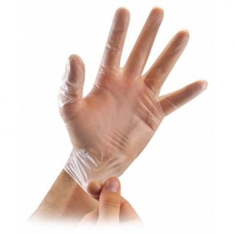 Γάντια Βινυλίου Μιάς Χρήσης Χωρίς Πούδρα (ΔΙΑΦΑΝΕΣ)